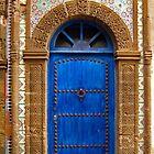 blue oriental door by Intrepix