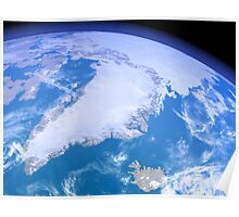 Greenland from Space Poster
