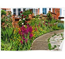 A Pathway Of Flowers Poster
