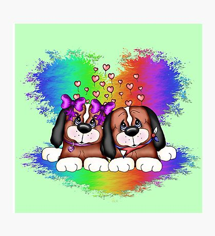 Love Puppies Photographic Print