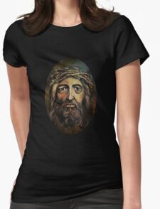 Christ with thorn crown. Womens Fitted T-Shirt