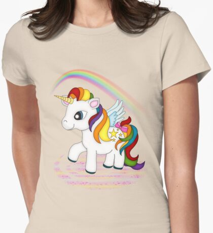 Rainbow Unicorn .. tee shirt Womens Fitted T-Shirt