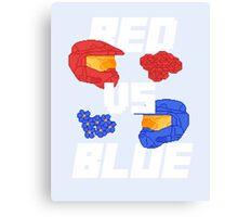 red versus blue Canvas Print