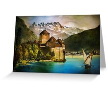 Chillon Castle Greeting Card