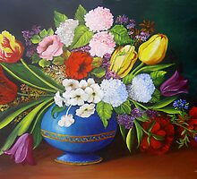 Flowers in a Vase by Dominica Alcantara