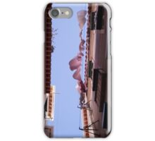 lisboa narrow street drying sheets top down view  iPhone Case/Skin