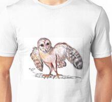 Tyto alba (Barn owl) / Nonnetjie-uil Unisex T-Shirt