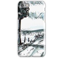 Pen-and-ink landscape iPhone Case/Skin