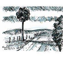 Pen-and-ink landscape Photographic Print