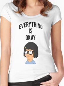 EVERYTHING IS OKAY! Women's Fitted Scoop T-Shirt