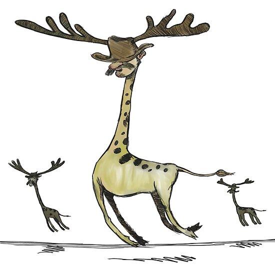 giraffemoosemen by Paul McClintock
