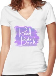 Read the Book Women's Fitted V-Neck T-Shirt