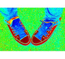 Neon Sneaks - Special Effects Photographic Print