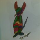 bunny moasic pattern by briony heath