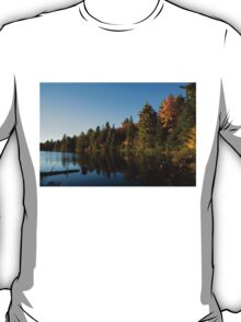 Fall Forest Lake - Reflection Tranquility T-Shirt