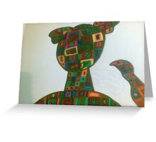 puppy dog square shapes Greeting Card