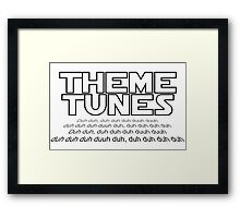 Theme tunes Framed Print