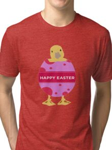 Happy Easter Chick Tri-blend T-Shirt