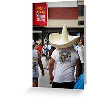 Hungry Hombre Greeting Card