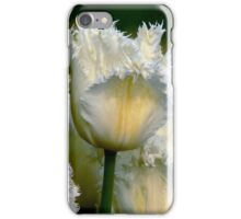 SIMPLY WHITE  PARROT TULIPS iPhone Case/Skin
