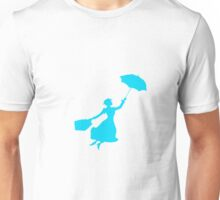 Blue Miss Poppins  Unisex T-Shirt