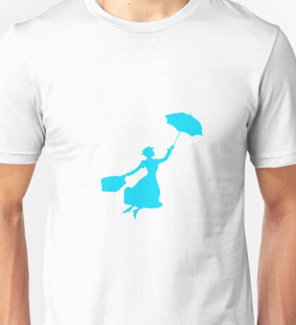 Blue Miss Poppins  Unisex T-Shirt