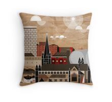 Brum Cityscape Throw Pillow