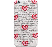 Mum with love  iPhone Case/Skin