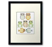 7 Friends Framed Print
