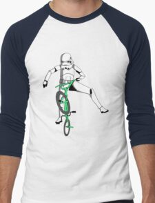 stormtrooper on a bike Men's Baseball ¾ T-Shirt