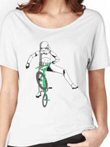 stormtrooper on a bike Women's Relaxed Fit T-Shirt