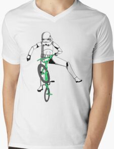 stormtrooper on a bike Mens V-Neck T-Shirt