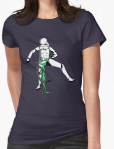 stormtrooper on a bike Womens Fitted T-Shirt