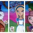 Alice in Wonderland Triptych by Jaz by Jaz Higgins