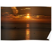 Land's End Sunset Poster