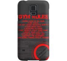 Gym rules Samsung Galaxy Case/Skin