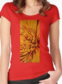 Imagination in Bold Yellows, Reds and Oranges Women's Fitted Scoop T-Shirt