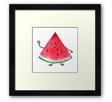 Super friendly watermelon Framed Print