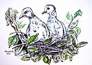 Two doves by Elizabeth Kendall