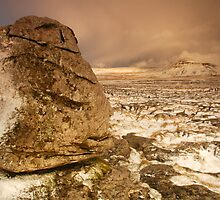 Ingleborough from Scales Moor, Ingleton, Ribblesdale, Yorkshire Dales by James Paul