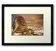 Ingleborough from Scales Moor, Ingleton, Ribblesdale, Yorkshire Dales Framed Print