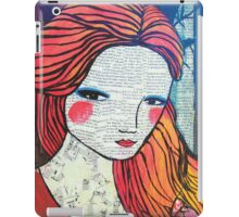 Little Red modern red portrait iPad Case/Skin