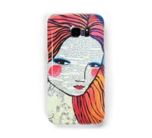 Little Red modern red portrait Samsung Galaxy Case/Skin