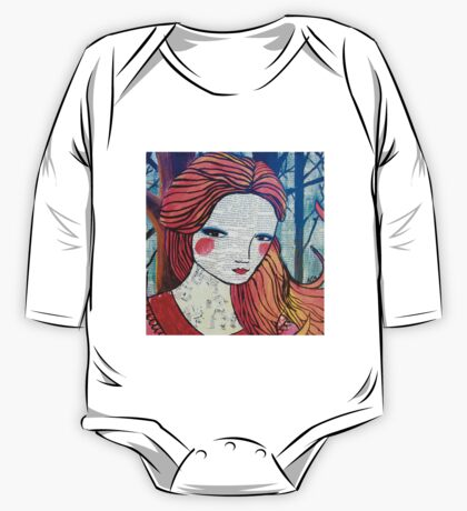Little Red modern red portrait One Piece - Long Sleeve