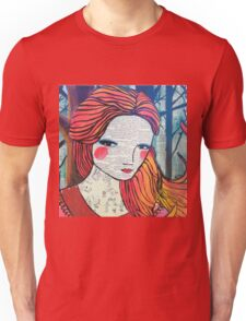 Little Red modern red portrait Unisex T-Shirt