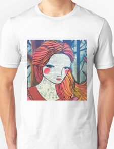 Little Red modern red portrait Unisex T-Shirt