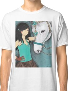 Woman with her pet horse Classic T-Shirt