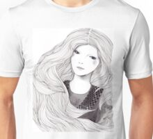 Catching A Moment Fashion Illustration Portrait Unisex T-Shirt