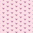 Songbird Magenta on Pink by ThistleandFox