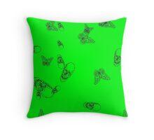Green hearth Throw Pillow